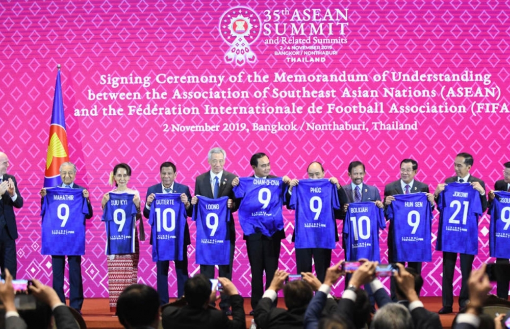 The Meanings Behind FIFA's Blue Jerseys for 10 ASEAN Leaders