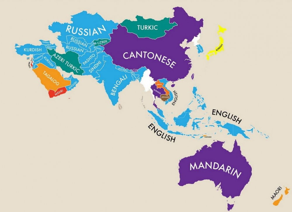 Fascinating Map of the World Reveals Each Country's Second Language