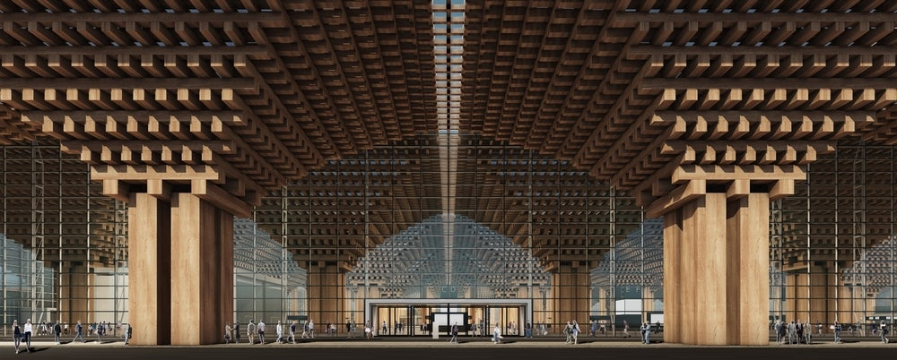 (Photos) New Airport Terminal With Stunning Wooden Detailing and Indoor Forest
