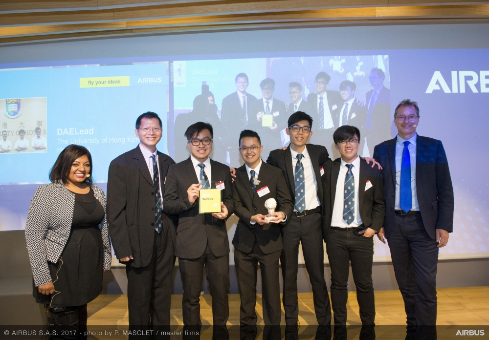 Hong Kong Students Win Airbus Competition for Revolutionizing On-board Passenger Compartment