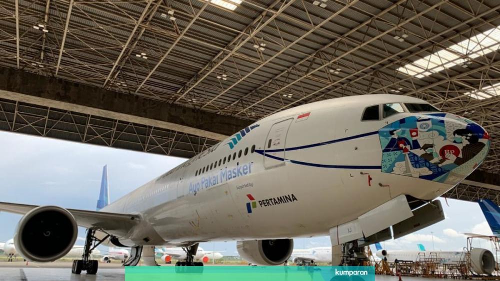 New 'Batik Tambal' Design for Garuda Indonesia Airplane