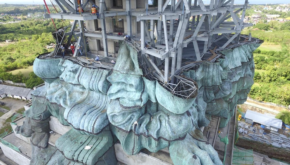 One of World's Biggest Statues Taking Shape in Bali. And It's Already Looking Impressive