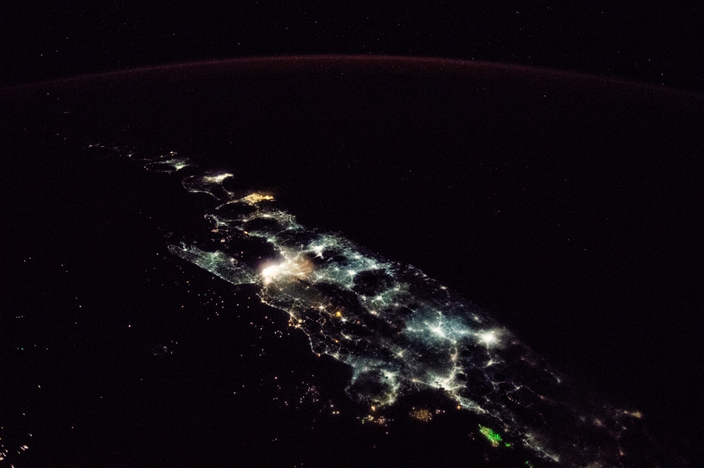 The Nighttime Image of Java from The Outer Space