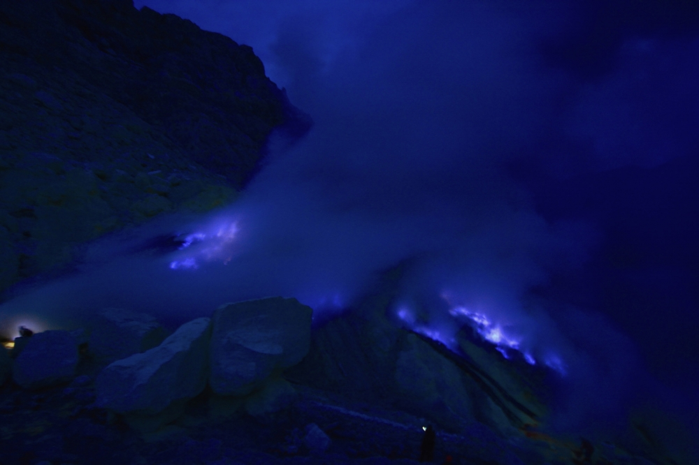Why Does This Indonesian Volcano Burn A Glowing Blue?