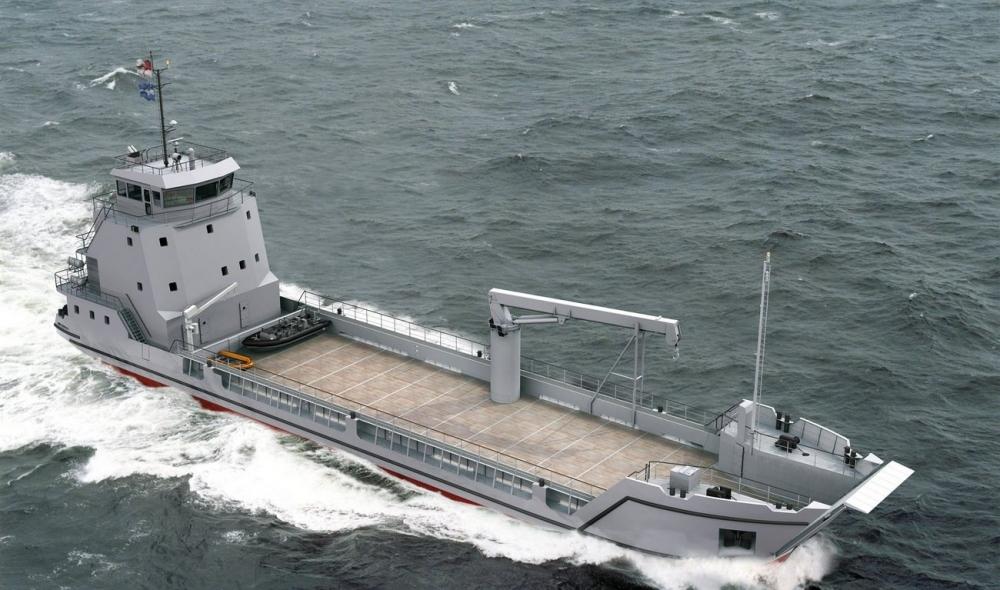 Vietnam Launches  Damen-designed Landing Ship for Navy