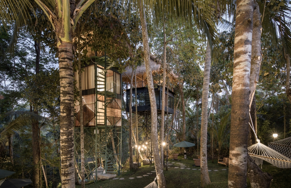 Sleeping in Style in Bali's Eco-friendly Treetop Hotel