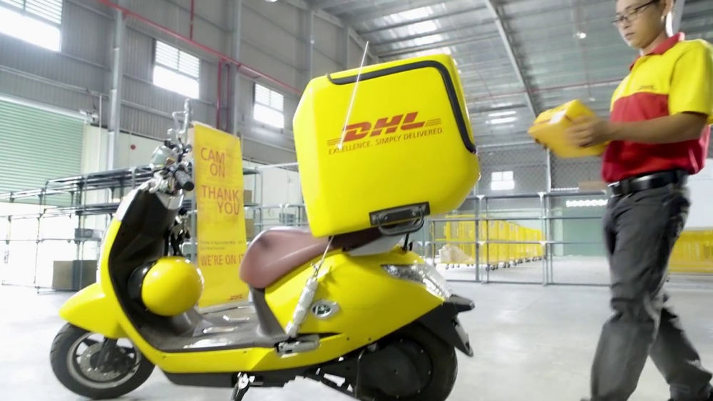 DHL Rides Southeast Asian Growth on 2-wheels