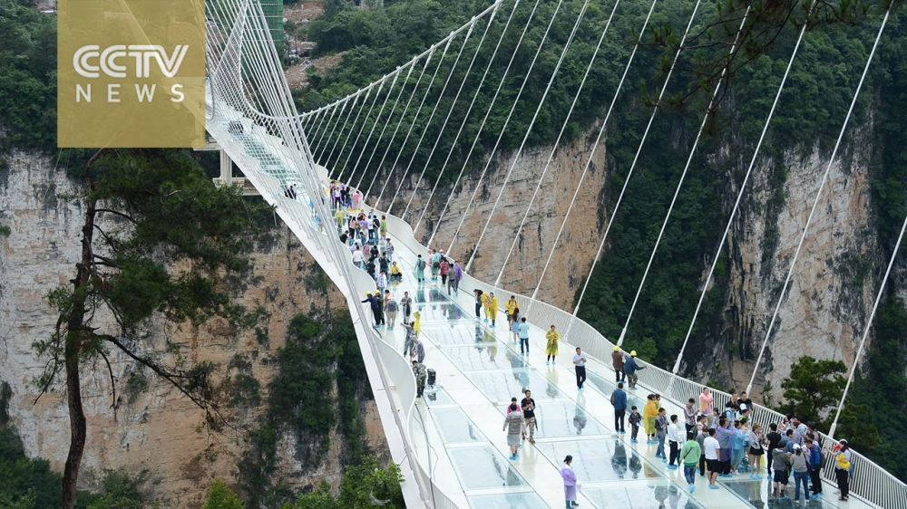 World's Longest Glass Bridge Opens in China, and It Sways