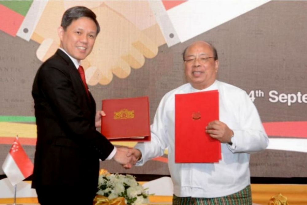 Singapore and Myanmar Sign New Investment Treaty