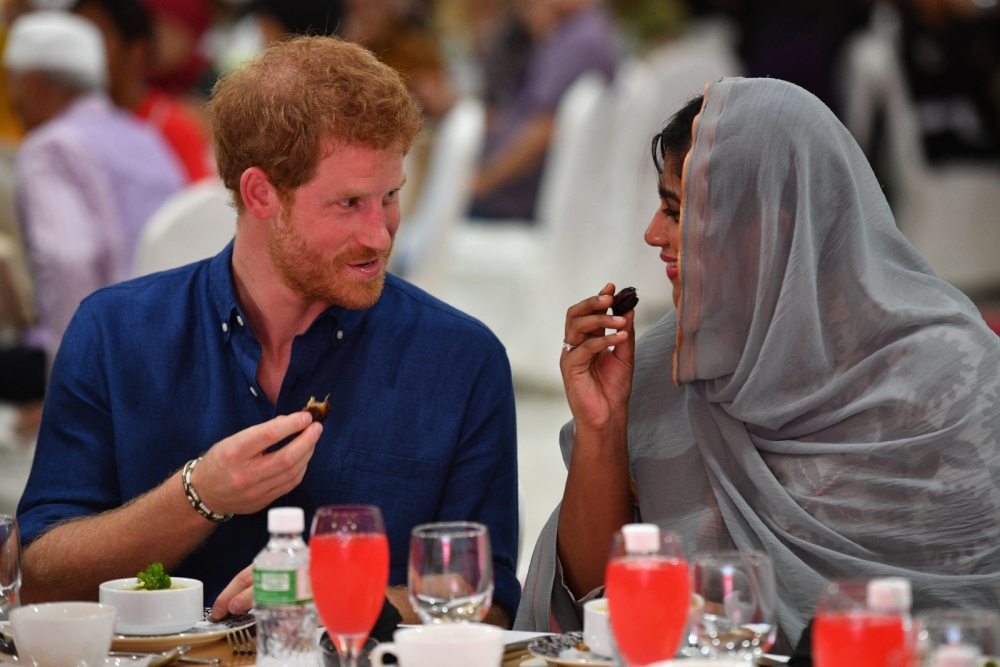 Prince Harry Breaks Fast with Muslims in Singapore