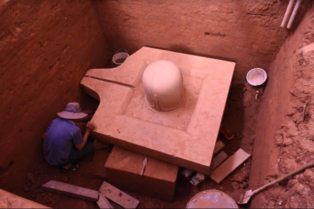 This Southeast Asian Country Unearths 1100-year-old Monolithic Sandstone from India