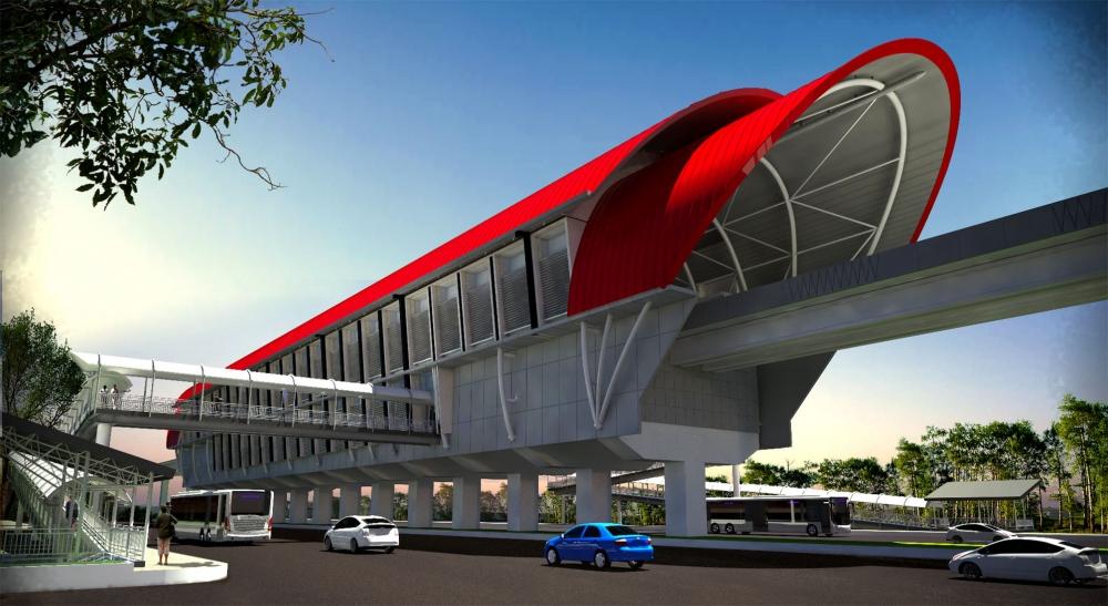 Render stasiun LRT Palembang | PT. Pede