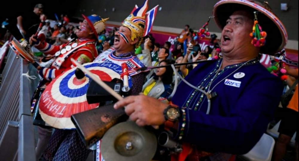 Thai Superfan Bangs the Drum at Asian Games