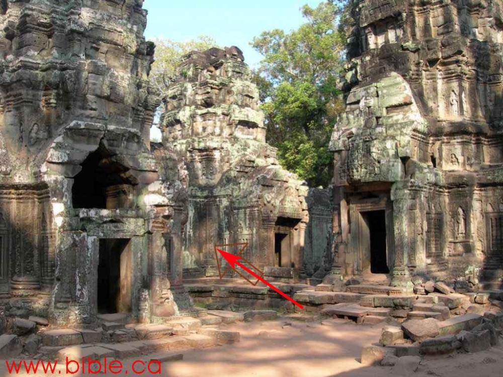 The Dinosaur of the Ancient Temple of Ta Prohm, Cambodia