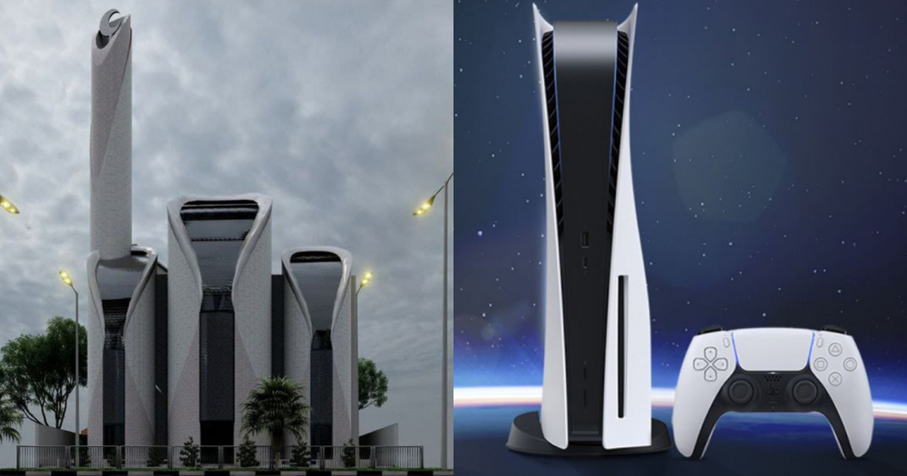 This Indonesian-designed Mosque Looks Like PS5. For Palestine from Indonesia
