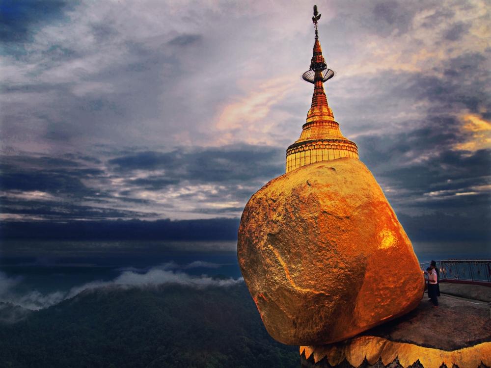 A Sacred Golden Rock that Defies Gravity in Myanmar