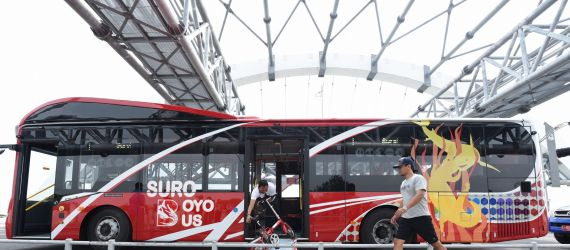 Photos: Pay for your bus ride in Surabaya by recycling a plastic bottle